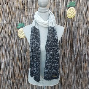 Bebe Ombre black, gray and white soft warm Scarf